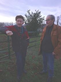 Michel Smolec bavardant avec René Montégudet