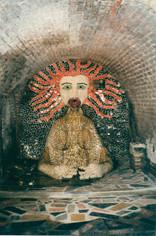 """""""La Scène des origines"""", la fontaine dans le tunnel, la partie la plus """"douloureuse car la plus menacée du site. Unique autoportrait de l'artiste."""