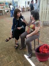 Jeanine Rivais interviewant Tatiana Samoïlova