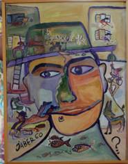 """Jaber """"Portrait de Dubuffet"""""""
