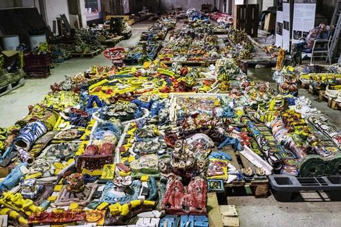 Une partie des milliers de sculptures réalisées sur huit années