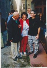 Jean-<marie Martin, Jeanine Rivais et Patrick Guallino aux dix ans de la Collection