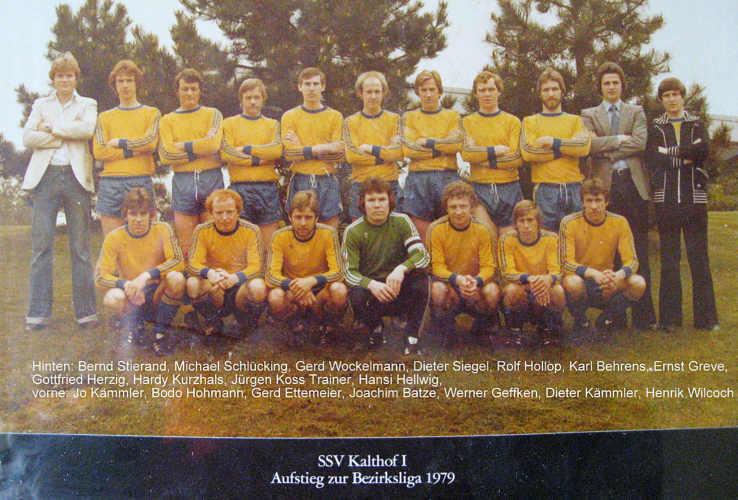 Aufstieg in die Bezirksliga 1979