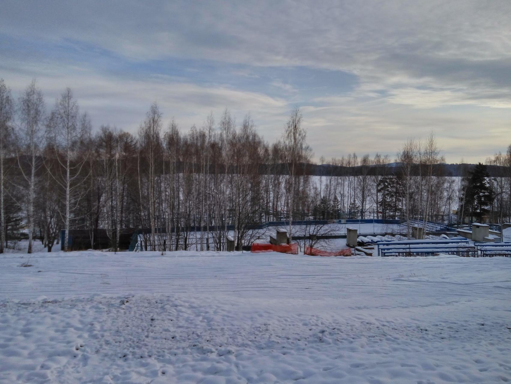 лыжная трасса на территории санатория