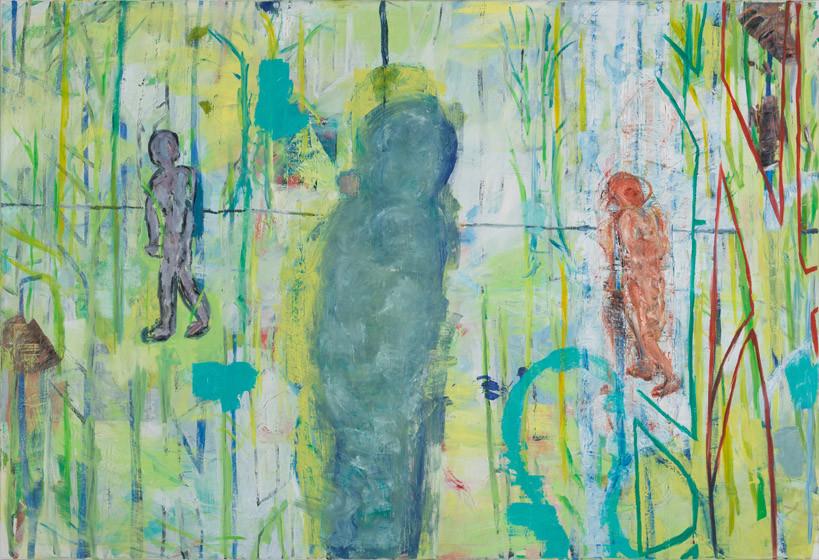 Umwandeln / 2015 / 150x220 cm / Öl und Acryl auf Leinwand