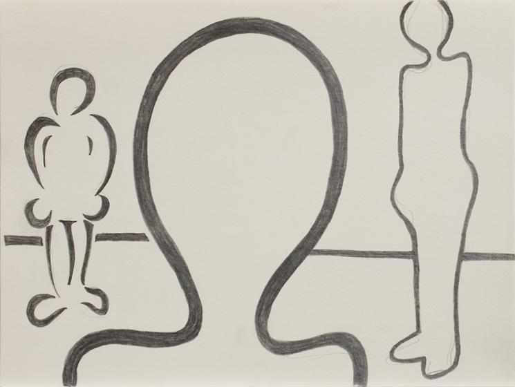 O.T.(Silhouetten II) / 2015 / 24x32 cm / Bleistift auf Papier