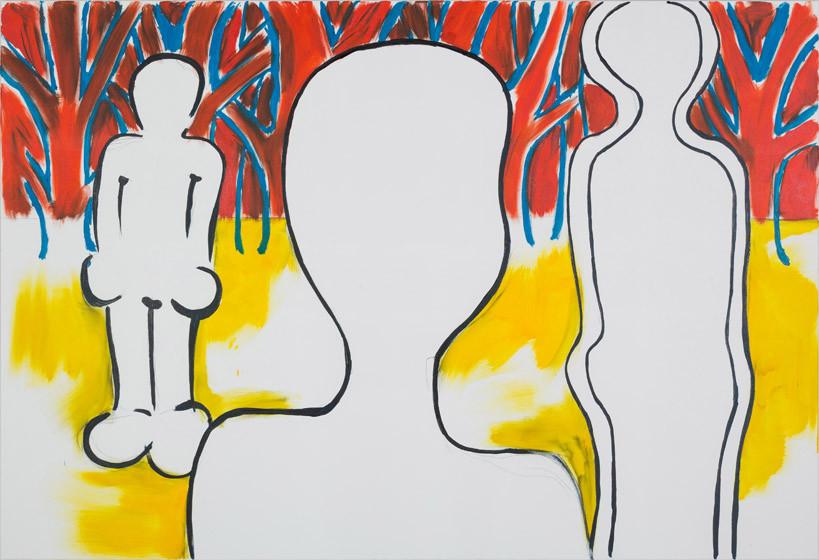 Ich, Du und die Anderen (elementar) / 2015 / 150x220 cm / Öl und Acryl auf Leinwand
