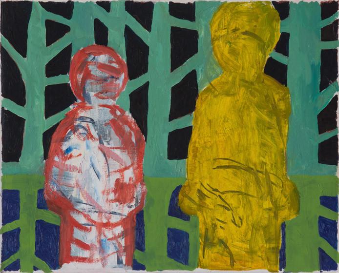 Spiegelwald / 2015 / 33x43 cm / Öl und Acryl auf Leinwand