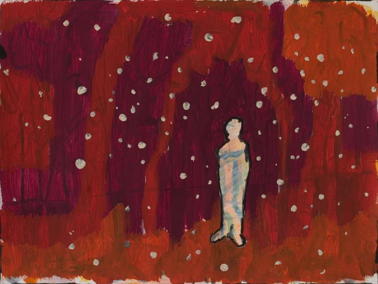 Purpurnacht / 2015 / 30x40 cm / Gouache und Tusche auf Aquarellpapier