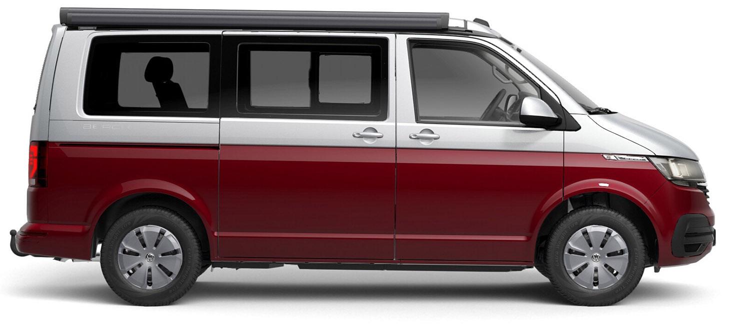 Hirschbulli: VW T6.1 California Beach mit calibox-Küche im Heck