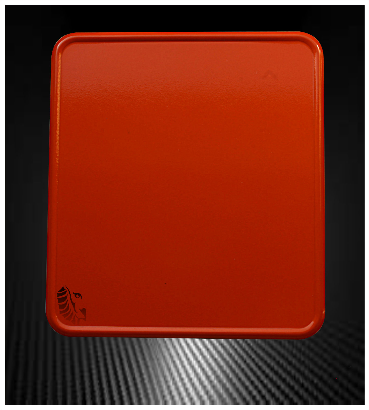 Motorrad Kennzeichenverstärker Orange Sport