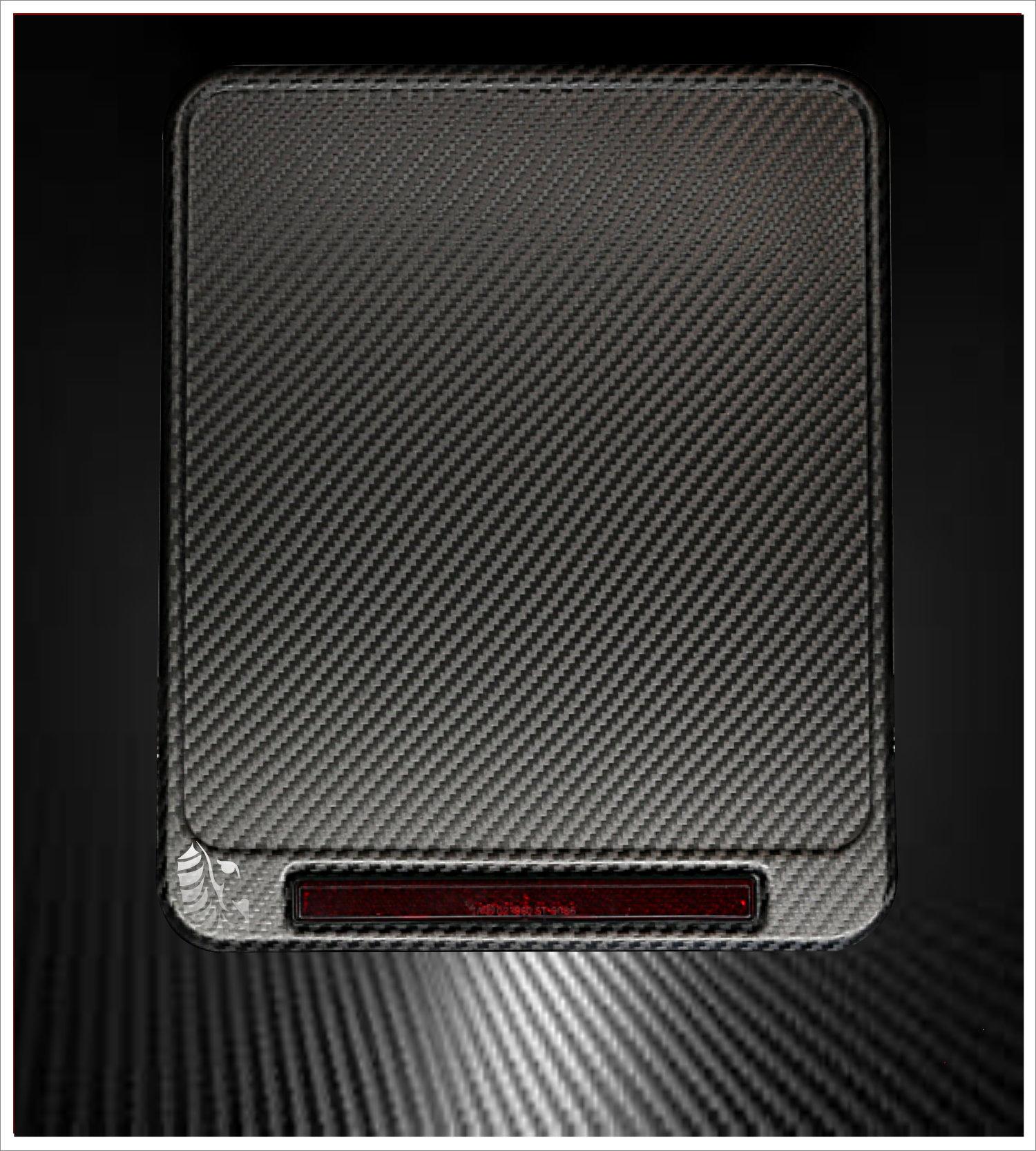 Motorrad Kennzeichenverstärker Carbon Stone Reflektor