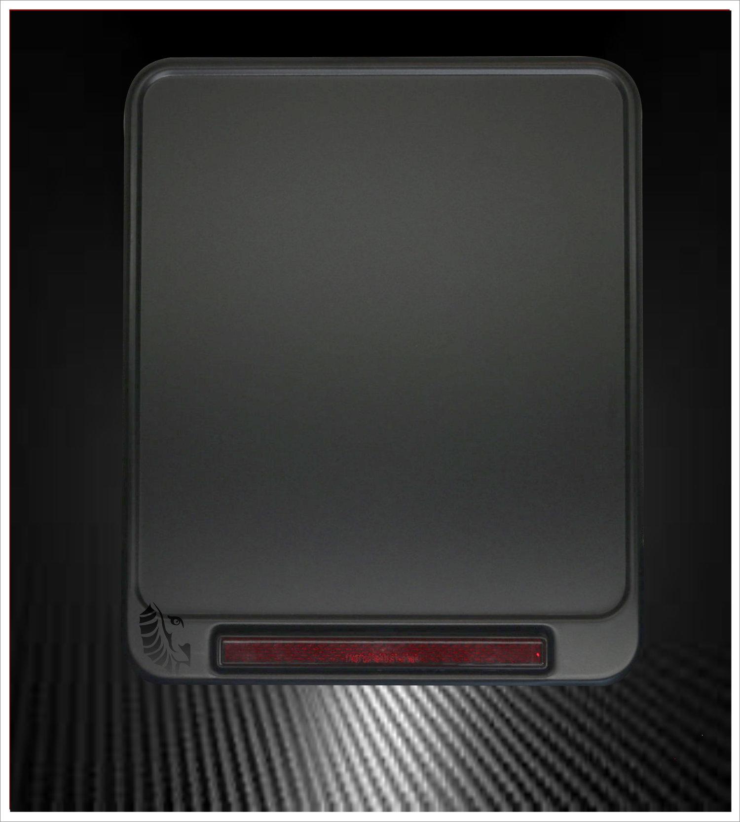 Motorrad Kennzeichenverstärker Black Pearl Reflektor