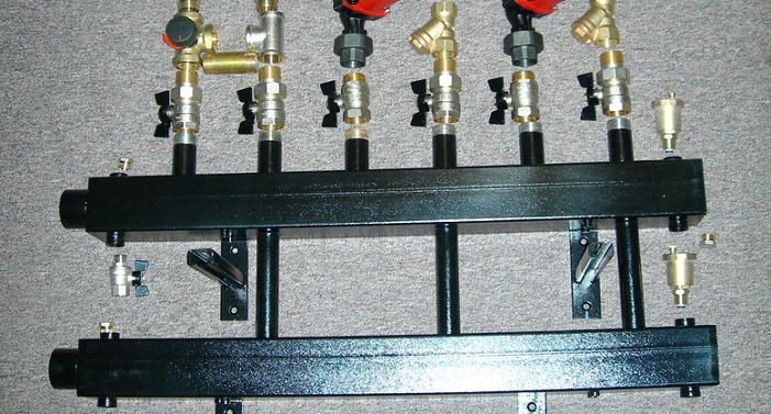 Коллектор отопления котельной 3 контура
