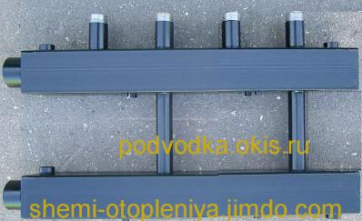 Коллектор отопления для котельной 2 контура