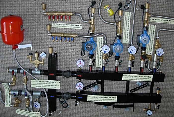 Схема системы отопления частного дома с принудительной циркуляцией