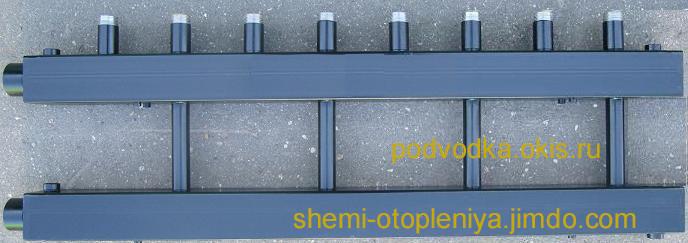 Коллектор отопления для котельной 3 контура