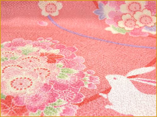 """68cm Furoshiki """"Chirimen/ Usagi"""""""