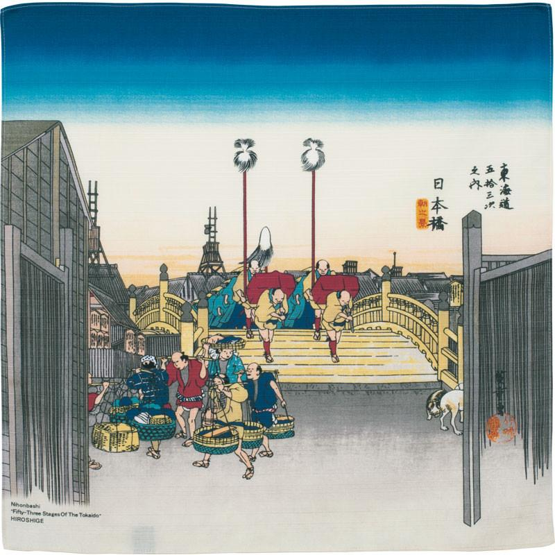"Art.No.6) ""Morning view of Nihonbashi"" by Utagawa Hiroshige"