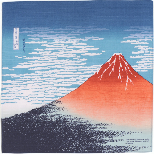 "Art.No.1) ""The Red Mt.Fuji"" by Hokusai"