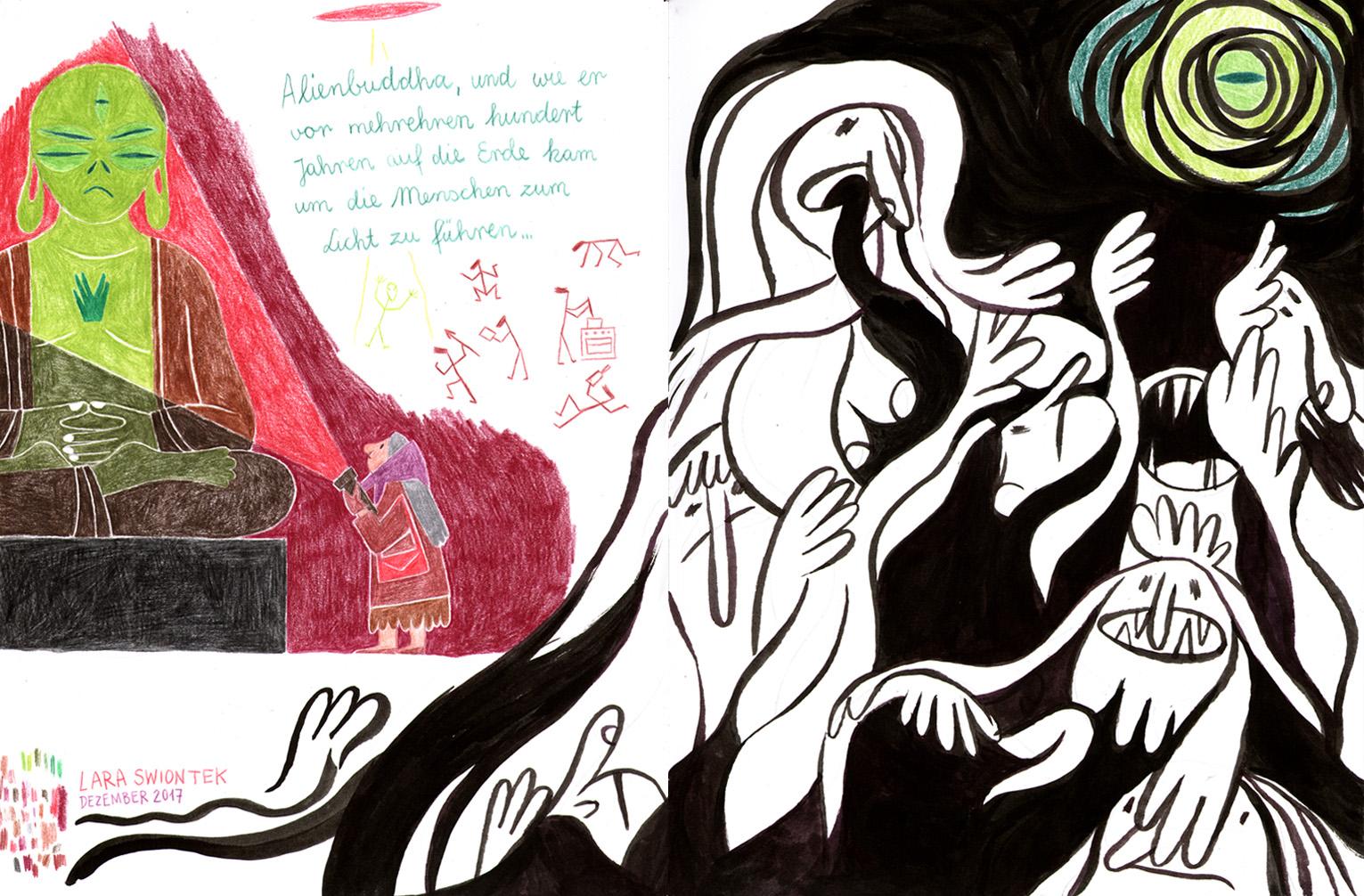 """Beitrag von Lara Swiontek """"Alienbuddha"""""""