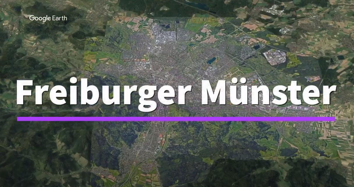 Ein kurzer Flug über das Freiburger Münster mit Google Earth