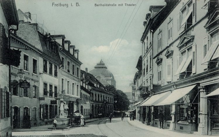 Bert(h)oldstraße ca 1908