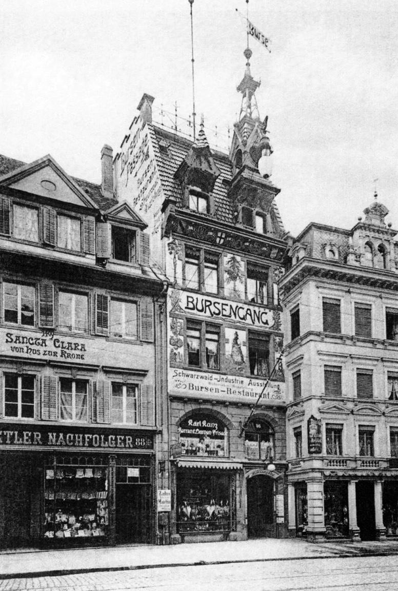 Bursengang Freiburg im Jahre 1905/06