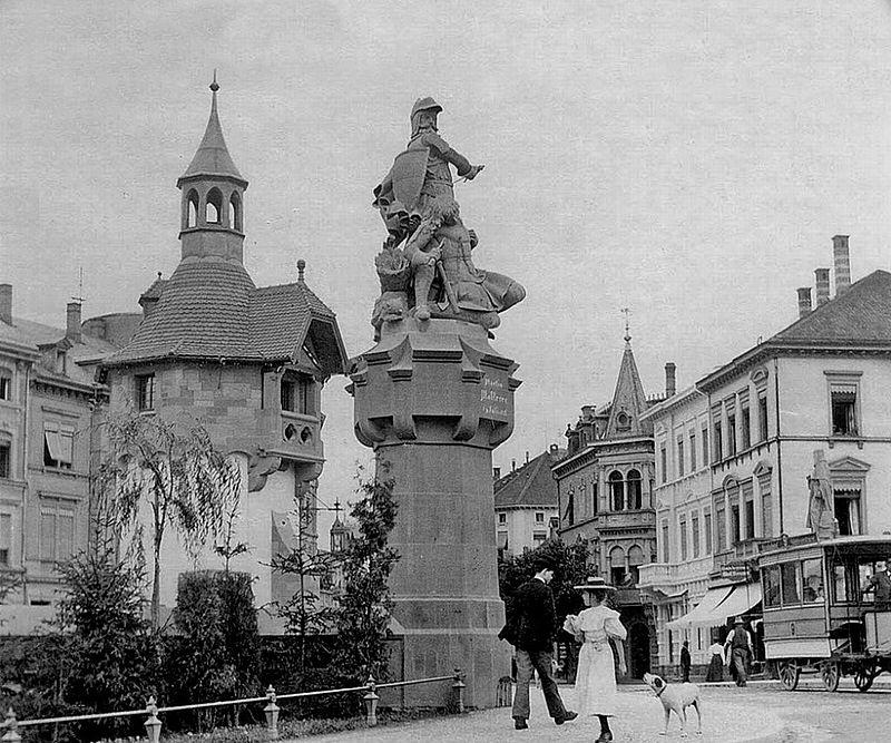 Schwabentorbrücke 1899. Fotograf Hermann Dischler