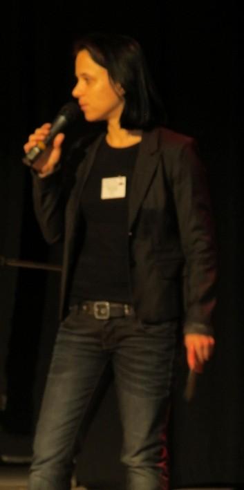 Sabine Brandl als Moderatorin