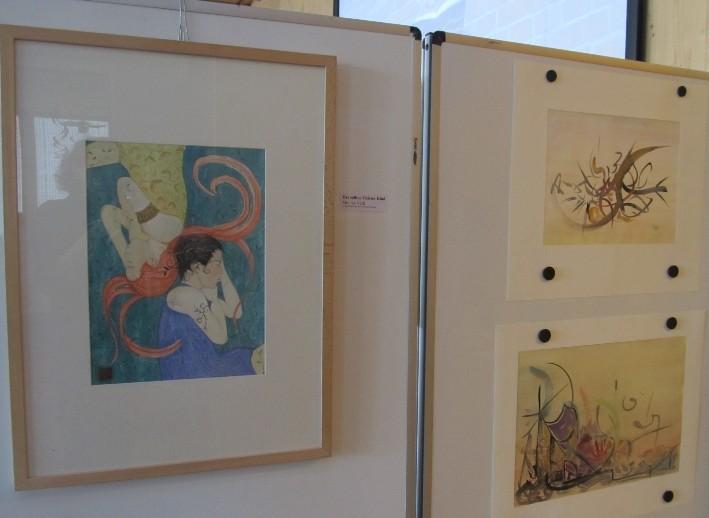 Links: Ein Bild von Monika Veth | Rechts: Bilder von Rüdiger Johst