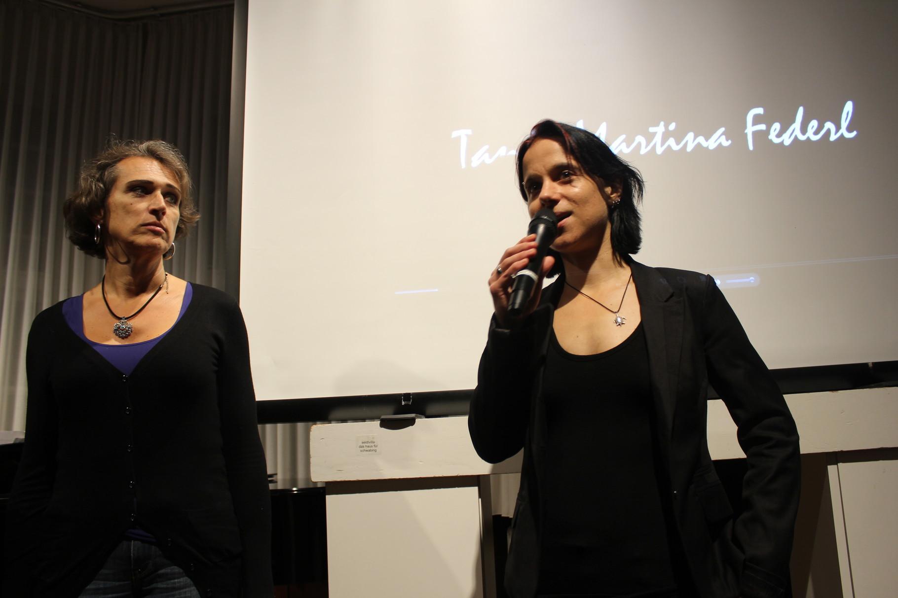 Sabine Brandl stellt Tanja Martina Federl (Bildende Künstlerin) vor