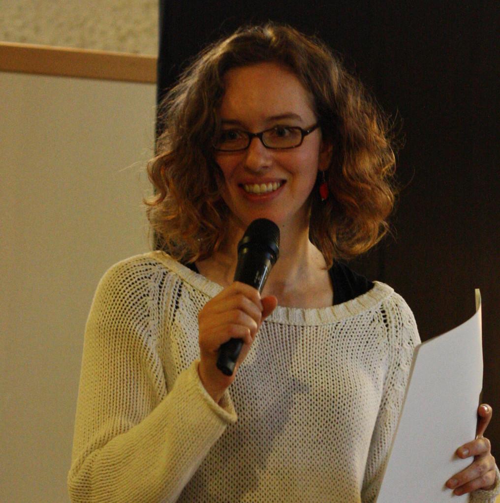 "Elisa Krimbacher bei ""Tatort Kunst"" (Veranstaltung von Kunstrefugium e.V.)"