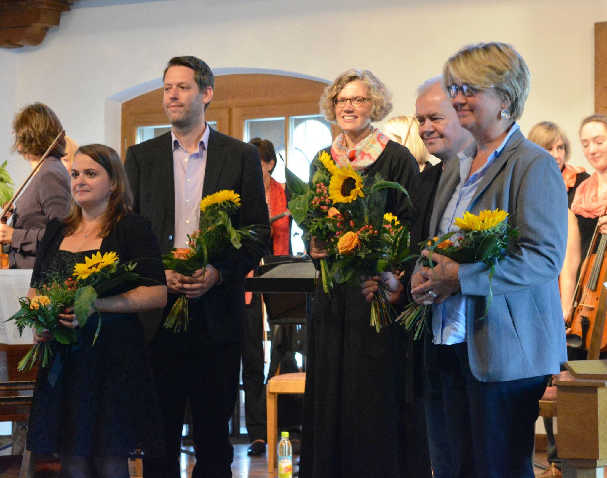 v.l.n.r. Meike Melinz, Jan-Eike Hornauer, Kristina Kuzminskaite, Lothar Thiel, Monika Veth