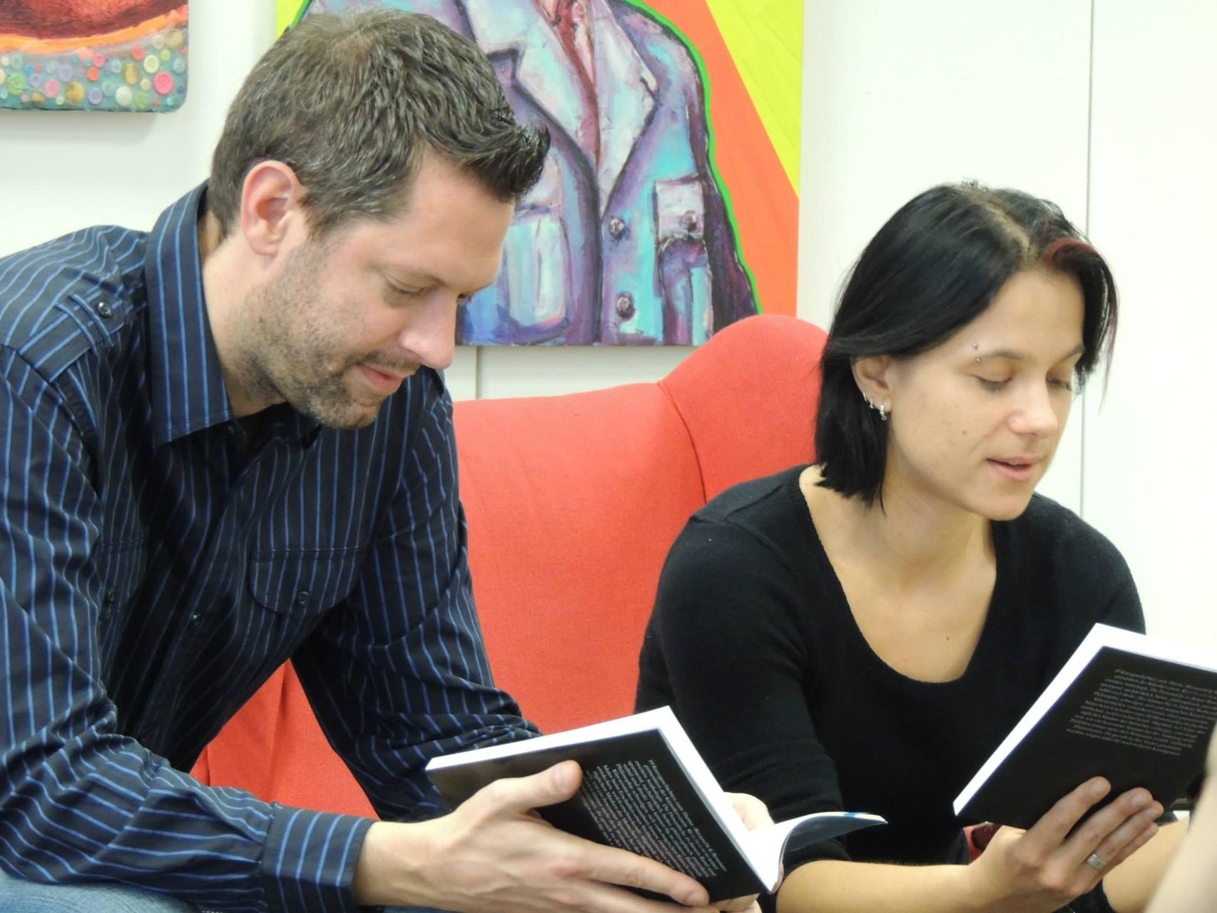 Jan-Eike Hornauer und Sabine Brandl