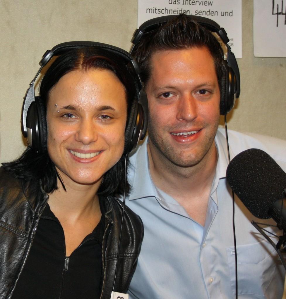 Sabine Brandl und Jan-Eike Hornauer bei Radio Lora 2012