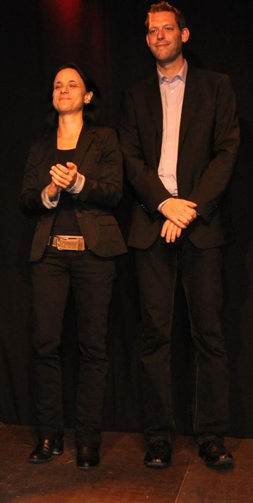 Die beiden Vorsitzenden Sabine Brandl und Jan-Eike Hornauer