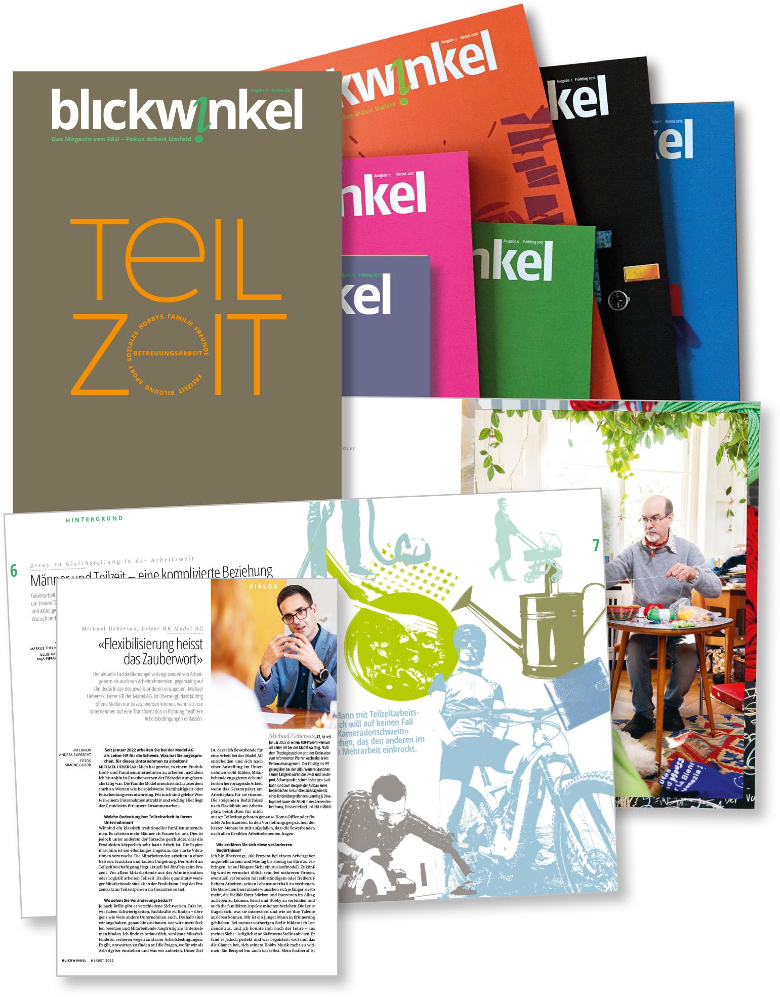 blickwinkel Magazin Unternehmenspublizistik FAU – Fokus Arbeit Umfeld