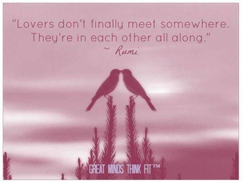 Zitat von ©Rumi und Postkartenmotiv von ©Great MIds Think Fit.