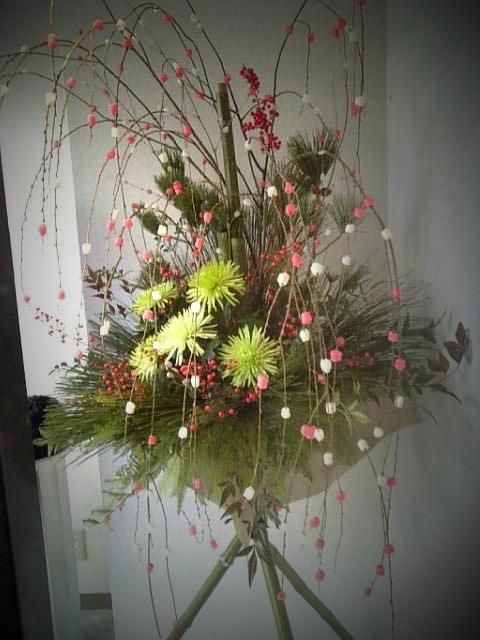 お正月スタンド花