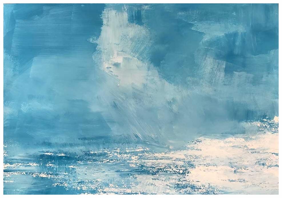Verkauft -Das Meer2  42 x 59.4 cm, Inspiration Saint Clair, Juni 2017, Watercolor, Copyright by Martin Uebele
