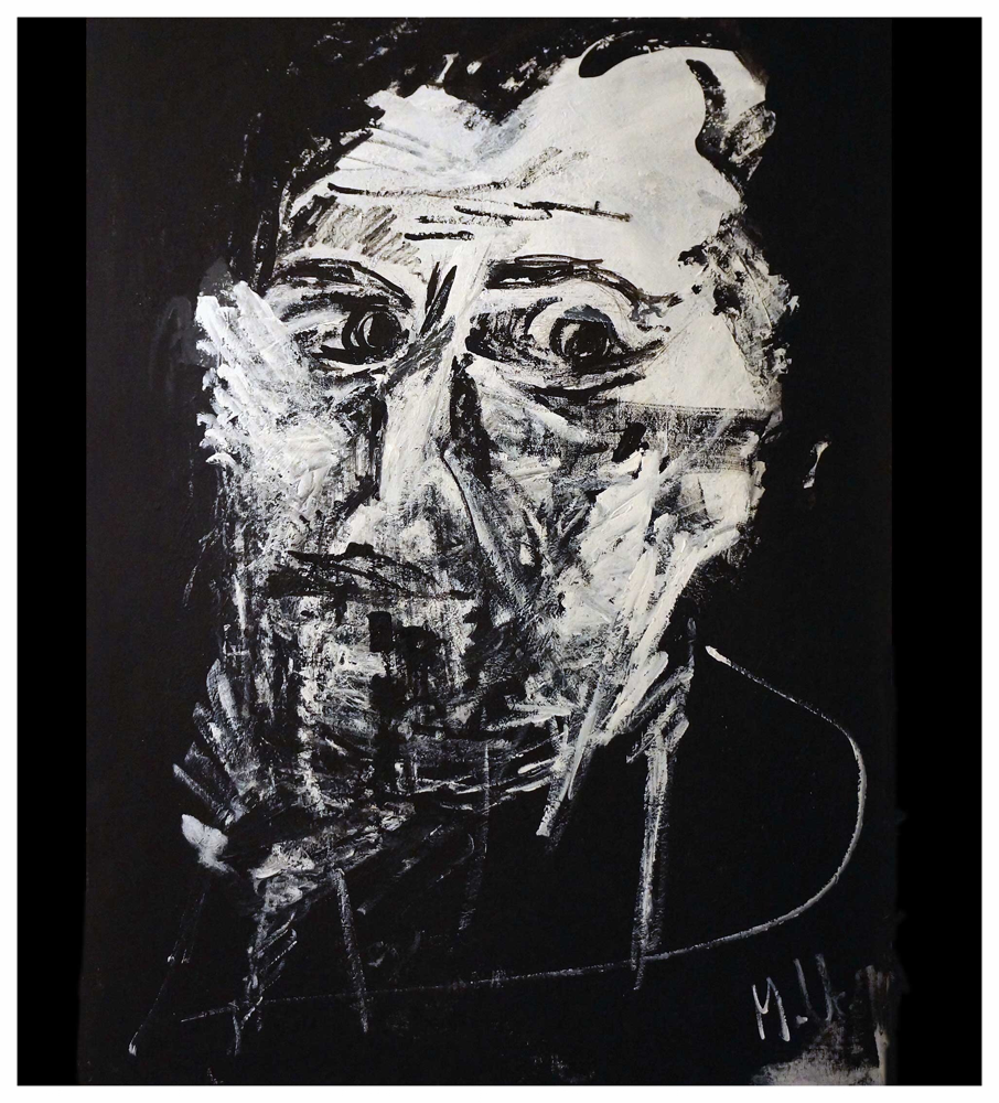 Sad Men, Rembrandt Acryl, Copyright by Martin Uebele