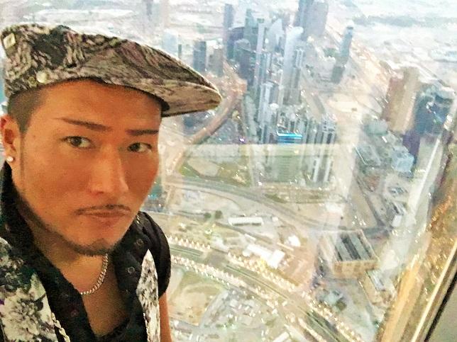 世界一高い展望室から撮影