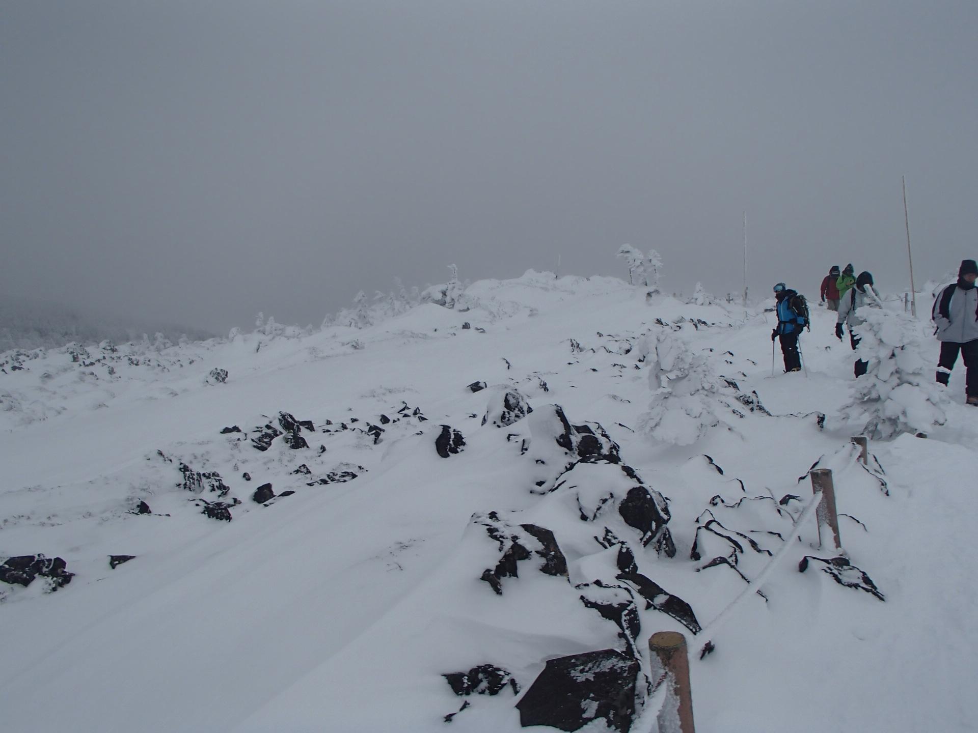 北八ヶ岳の積雪状況
