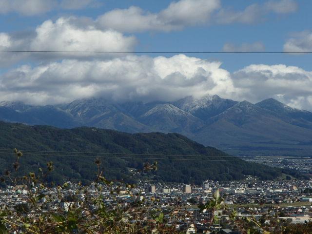八ヶ岳でも雪が降りました。