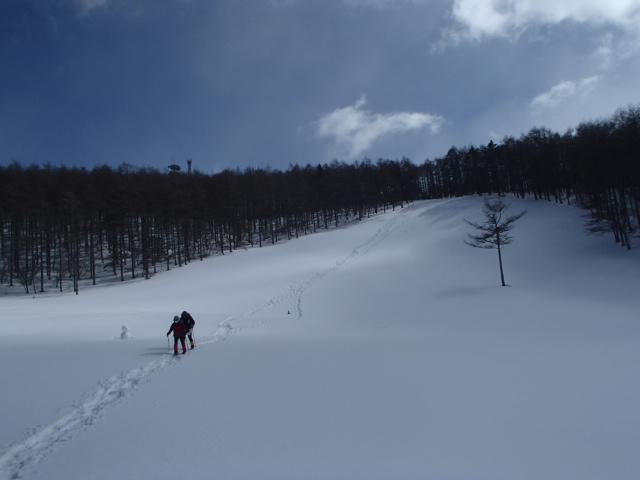 入笠山の積雪状況