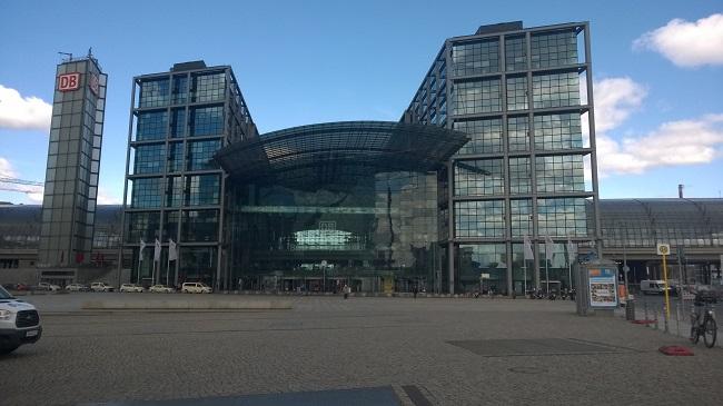Hauptbahnhof Berlin während des ersten Lock-Down