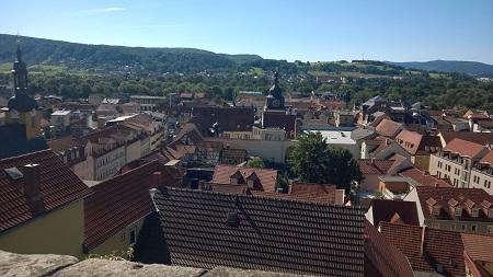 Blick von der Residenz auf Rudolstadt und das Saaletal