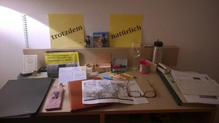 """mein Schreibtisch im Hotel """"Am alten Rhin"""""""