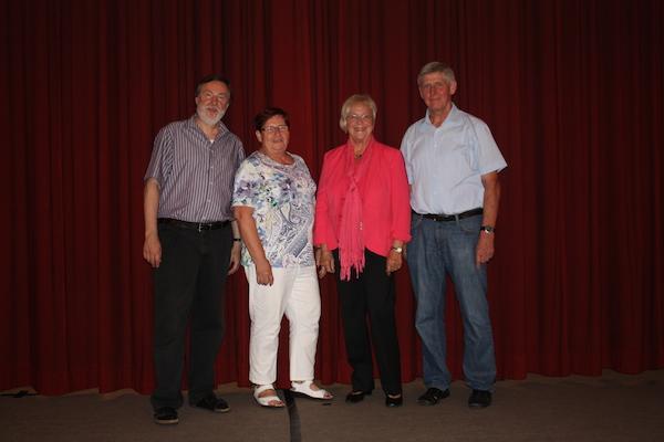 v.l. Heribert Jung ; Marliese Kamlage ; Annemie Winkel ; Karl Stegemann